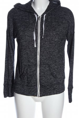 Hollister Kapuzensweatshirt schwarz-hellgrau Casual-Look