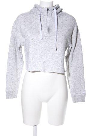 Hollister Kapuzensweatshirt weiß-hellgrau meliert Casual-Look