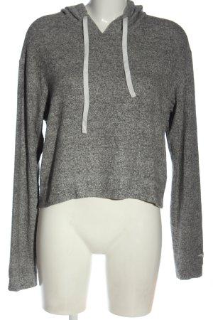 Hollister Kapuzensweatshirt hellgrau meliert Casual-Look