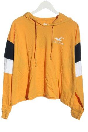 Hollister Kapuzensweatshirt hellorange Casual-Look