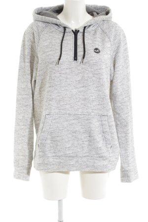 Hollister Kapuzensweatshirt hellgrau-schwarz meliert Casual-Look
