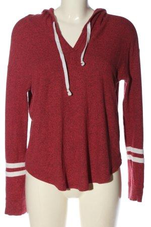 Hollister Kapuzensweatshirt rot-weiß meliert Casual-Look