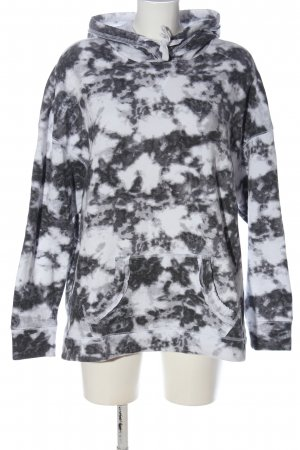 Hollister Kapuzensweatshirt weiß-schwarz Camouflagemuster Casual-Look