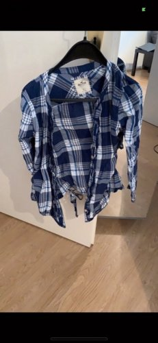 Hollister Checked Blouse blue-white
