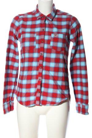 Hollister Bluzka w kratę niebieski-czerwony Wzór w kratkę W stylu casual