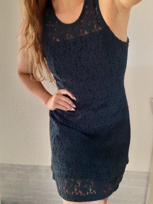 Hollister Lace Dress blue-dark blue