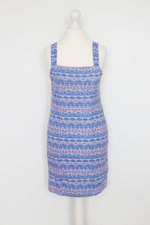 Hollister Kleid Gr. M blau mit Muster