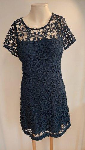 Hollister Sukienka z baskinką niebieski