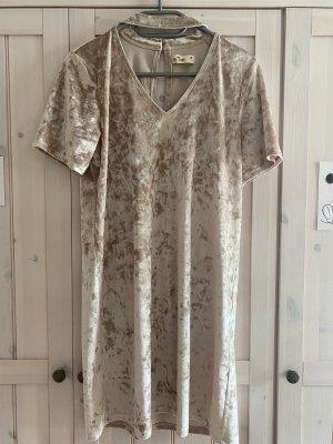 Hollister Kleid Samt Gold Gr. M