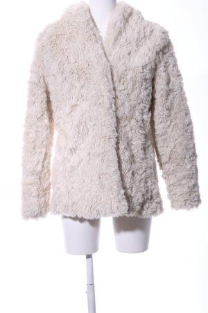 Hollister Fake Fur Jacket natural white casual look