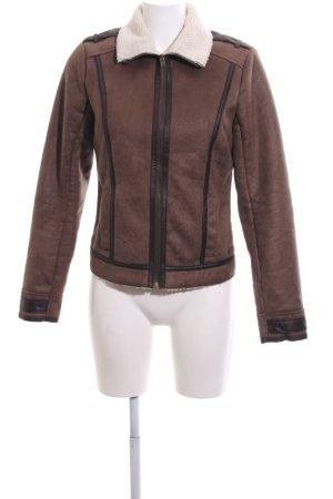 Hollister Kunstlederjacke bronzefarben-wollweiß Casual-Look