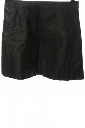 Hollister Rok van imitatieleder zwart casual uitstraling