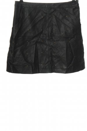 Hollister Kunstlederrock schwarz Casual-Look