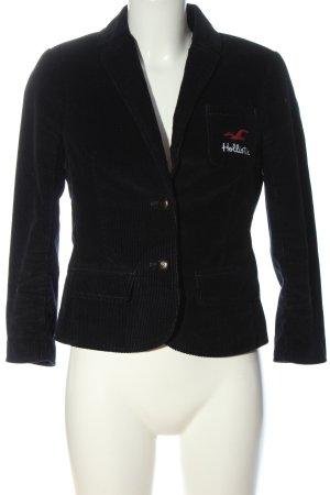 Hollister Short Blazer black embroidered lettering casual look