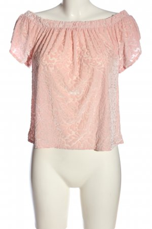 Hollister Kurzarm-Bluse pink Allover-Druck Casual-Look
