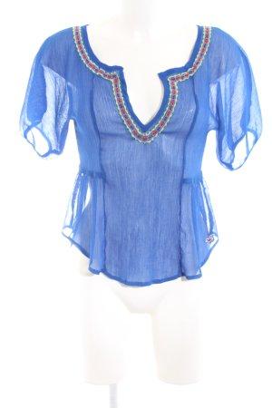 Hollister Kurzarm-Bluse blau Casual-Look