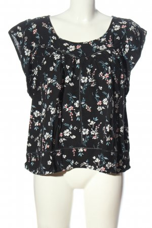 Hollister Kurzarm-Bluse Allover-Druck Casual-Look