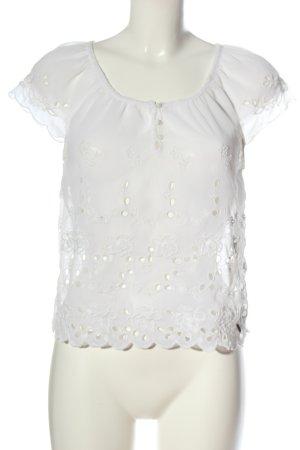 Hollister Blusa de manga corta blanco look casual