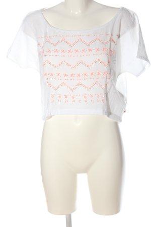 Hollister Kurzarm-Bluse weiß Casual-Look