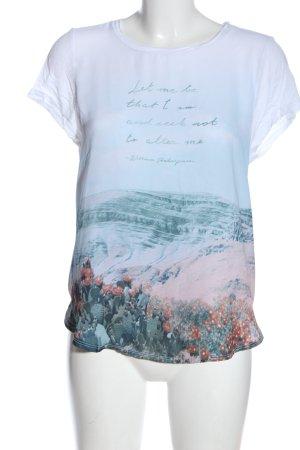 Hollister Kurzarm-Bluse Motivdruck Casual-Look