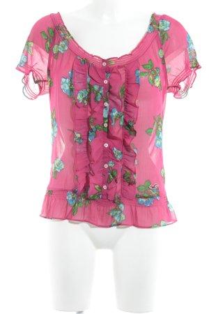 Hollister Kurzarm-Bluse Blumenmuster Business-Look
