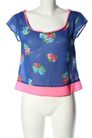 Hollister Kurzarm-Bluse Blumenmuster Casual-Look