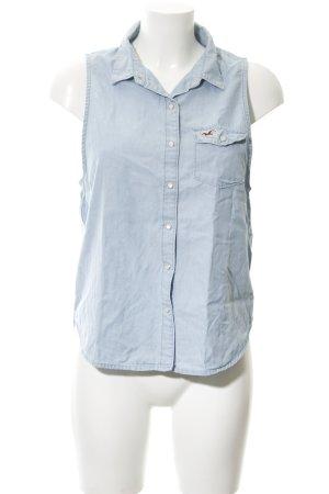 Hollister Kurzarm-Bluse himmelblau Casual-Look