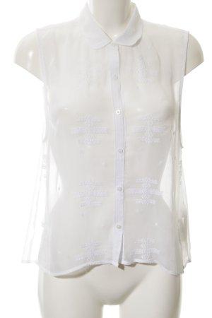 Hollister Kurzarm-Bluse weiß