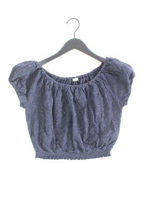 Hollister Kurzarmbluse Größe M blau aus Baumwolle