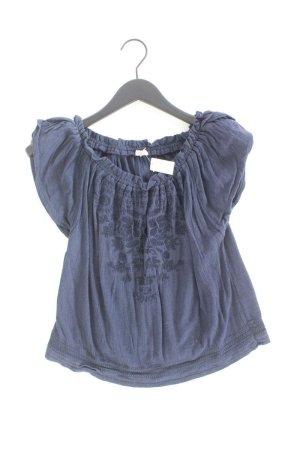 Hollister Kurzarmbluse Größe S blau aus Baumwolle