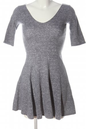 Hollister Shortsleeve Dress light grey flecked casual look