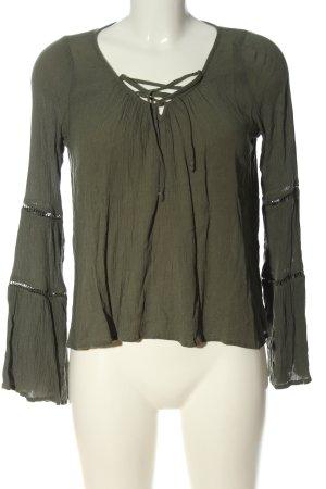 Hollister Langarm-Bluse khaki Casual-Look