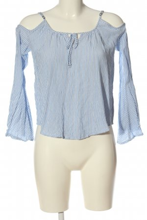 Hollister Bluzka z długim rękawem biały-niebieski Na całej powierzchni