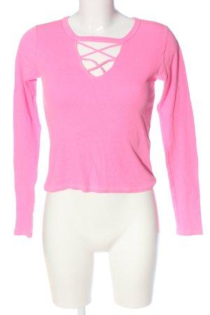 Hollister Longsleeve pink Casual-Look