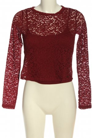 Hollister Langarm-Bluse rot Party-Look