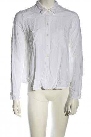 Hollister Langarm-Bluse weiß Business-Look
