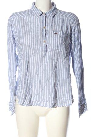 Hollister Langarm-Bluse blau-weiß Streifenmuster Business-Look