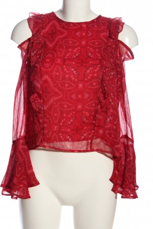 Hollister Langarm-Bluse rot Casual-Look
