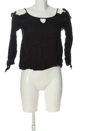 Hollister Langarm-Bluse schwarz Casual-Look