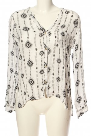 Hollister Langarm-Bluse Allover-Druck Casual-Look