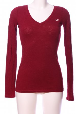 Hollister Langarm-Bluse rot meliert Casual-Look