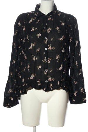 Hollister Langarm-Bluse Blumenmuster Casual-Look