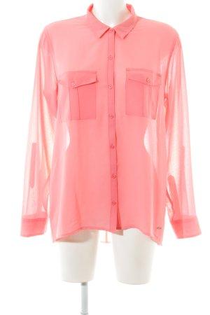 Hollister Langarm-Bluse pink Casual-Look