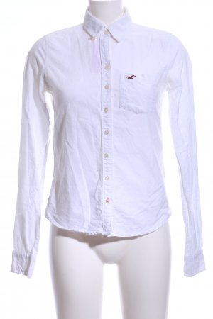 Hollister Langarm-Bluse weiß Casual-Look