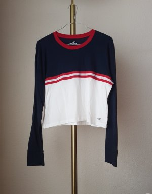 Hollister Langarm/Shirt Horizontal Gestreift Blau Weiß Rot Gr. XS