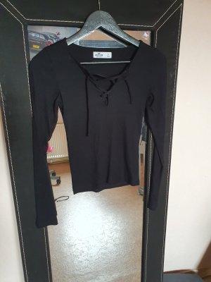 Hollister Langarm Shirt Ripp-Optik S