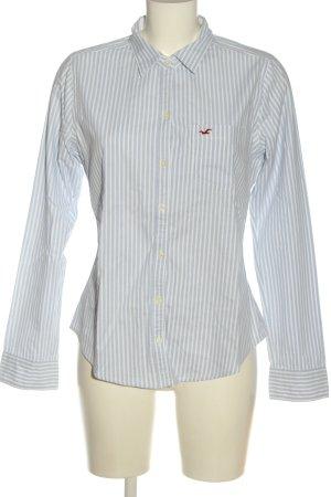 Hollister Langarmhemd blau-weiß Streifenmuster Business-Look