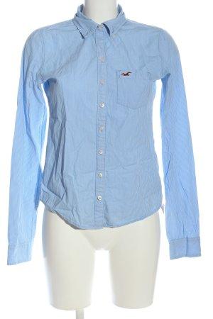 Hollister Langarmhemd blau Streifenmuster klassischer Stil