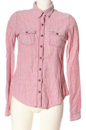 Hollister Langarmhemd pink-weiß Allover-Druck Casual-Look