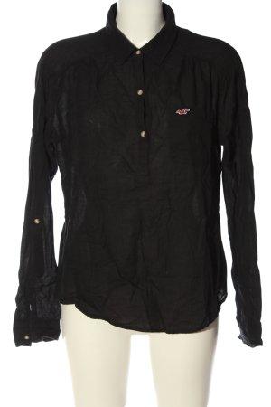 Hollister Langarmhemd schwarz Casual-Look